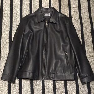 ✅ MARCO & CO Genuine Leather Men's Biker Jacket M